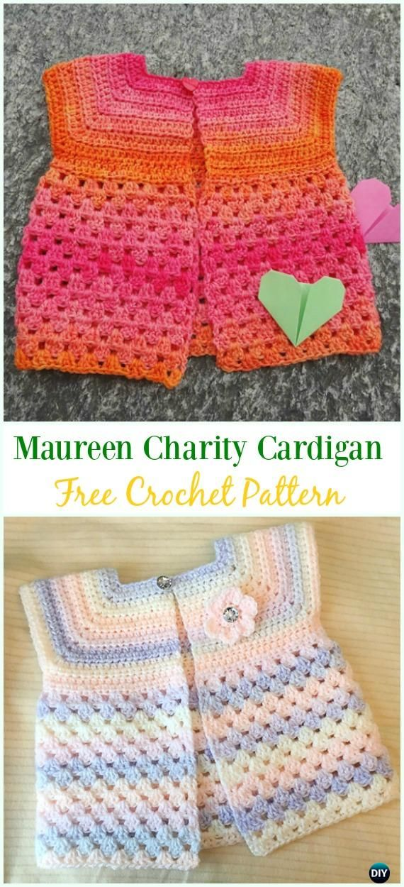 Crochet Maureen Charity Cardigan Free Pattern Crochet Kids