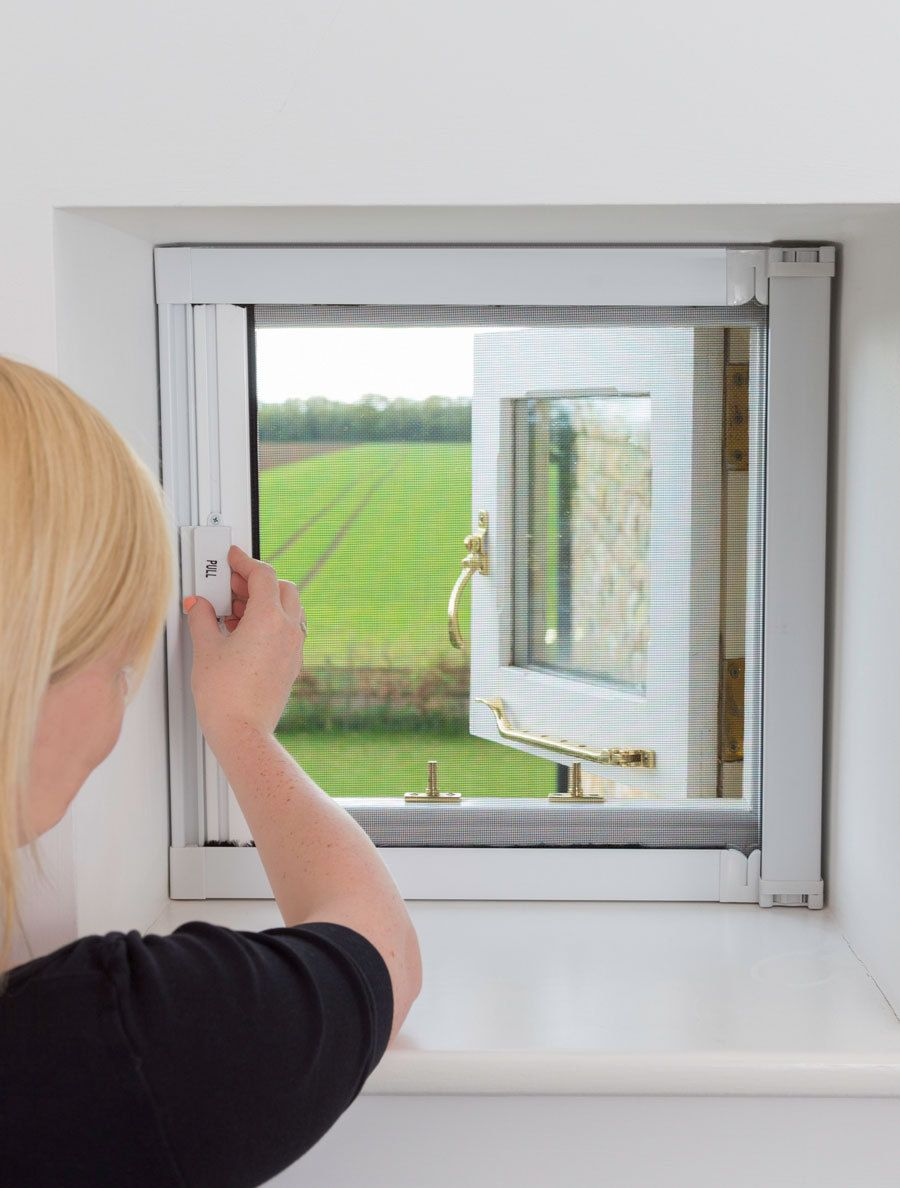 Fly screens for doors and windows - Diyflyscreens Co Uk Pull Across Window Fly Screen Short 73 00