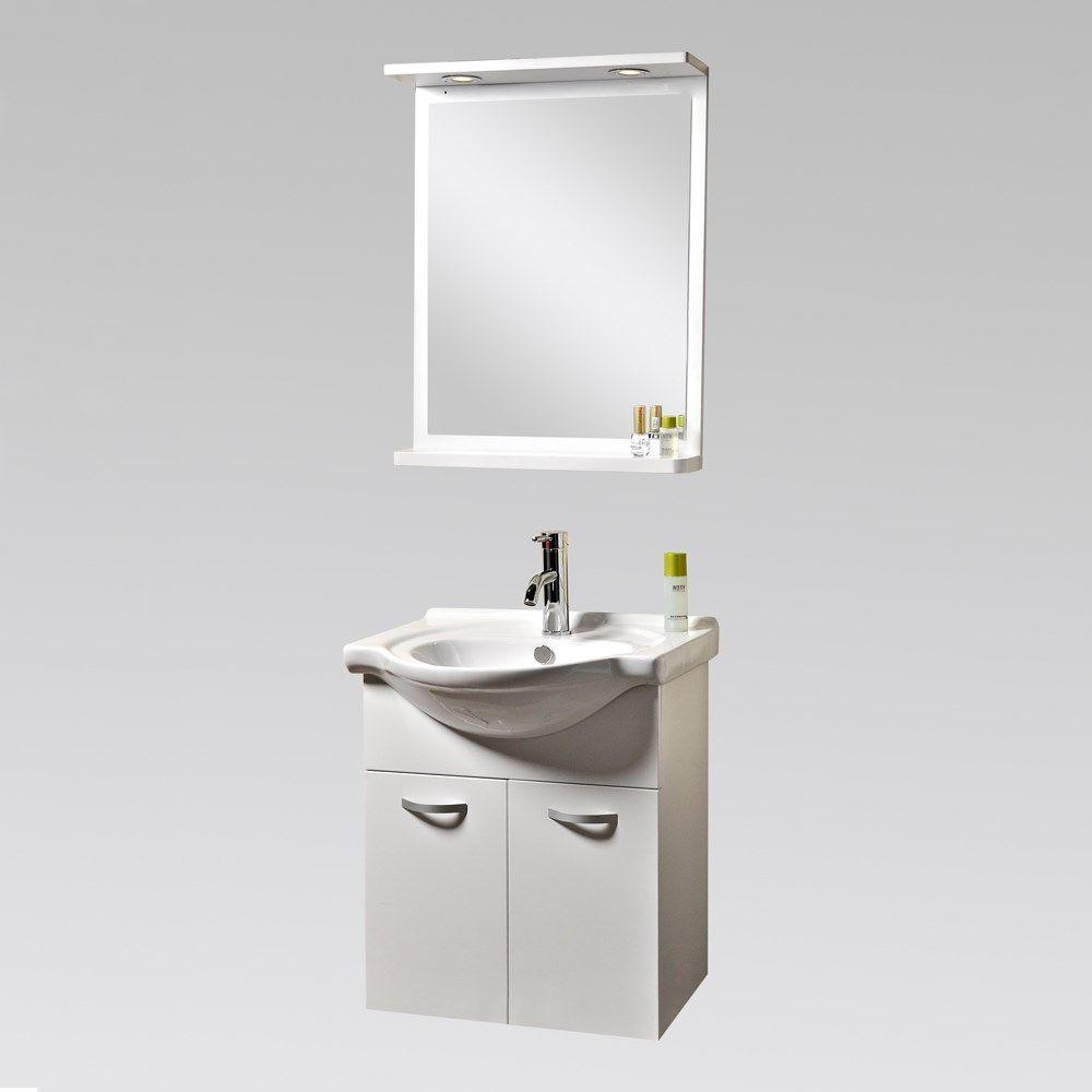 Great Möbelpaket Bathlife Ideal Med Runt Handfat Vit 550