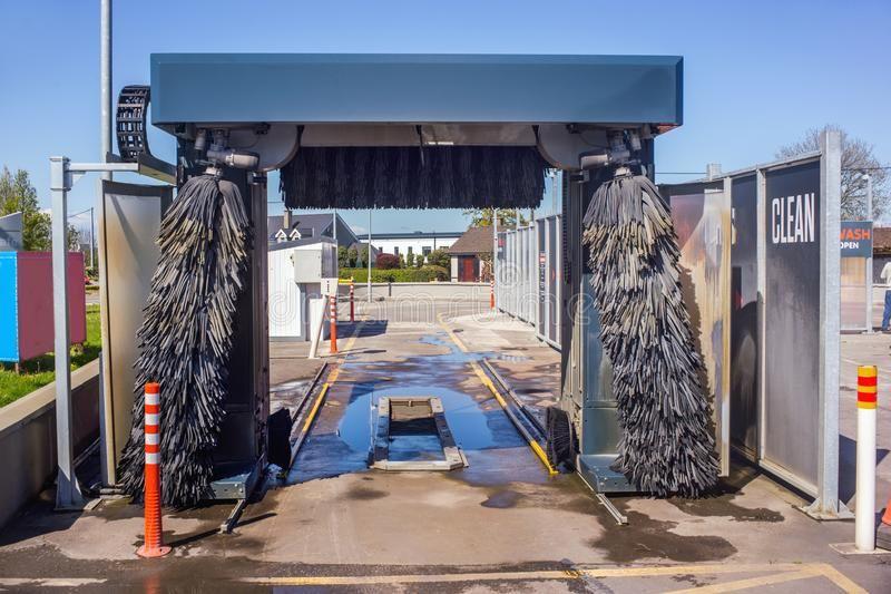 Automatic car wash system ireland royalty free stock