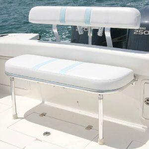 Marine Seats Folding Rear Bench Seat Birdsall Marine Design Center Console Boats Diy Boat Seats Boat Seats