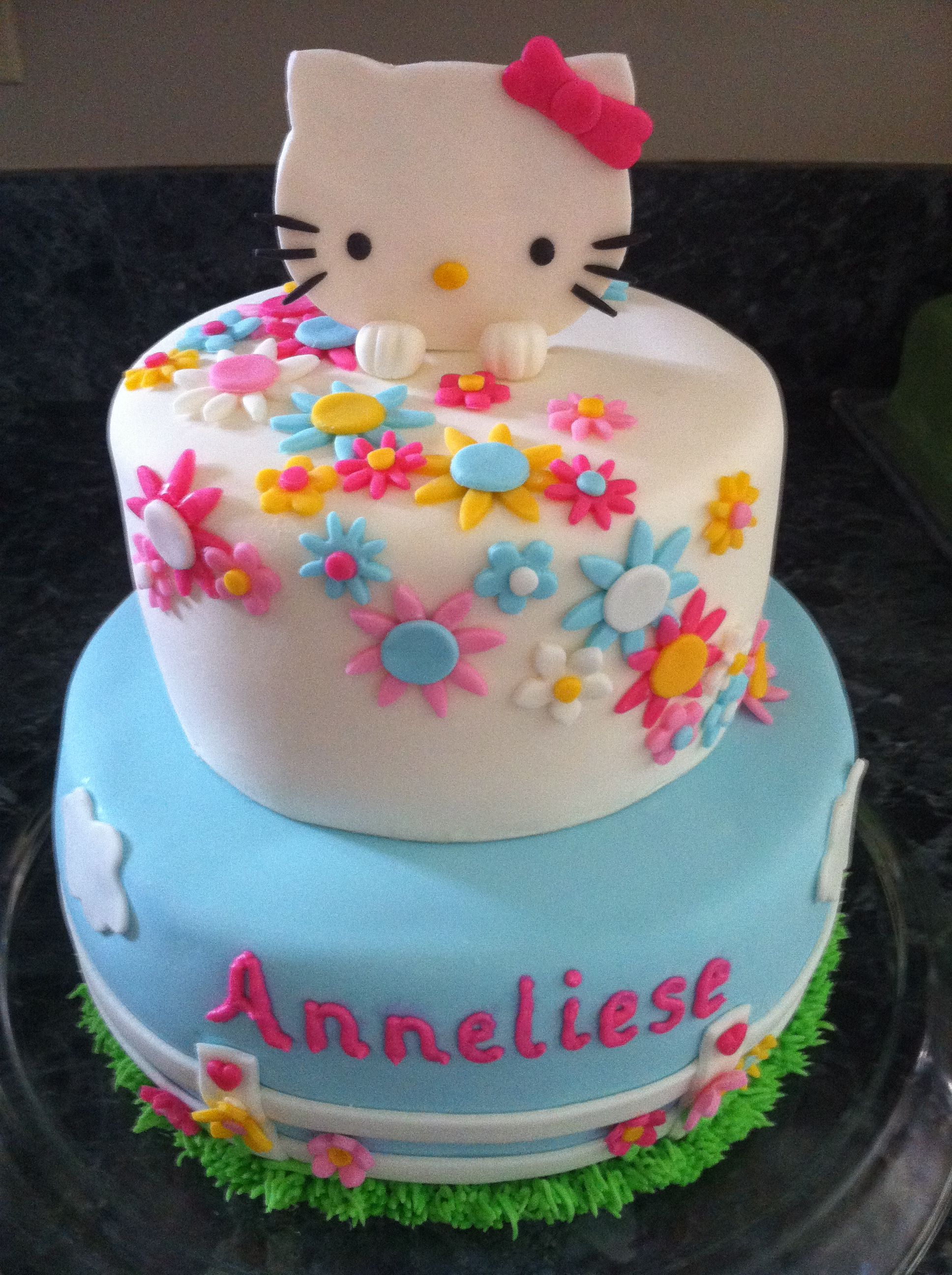 Hello Kitty Tiered Birthday Cake Image Inspiration of Cake and