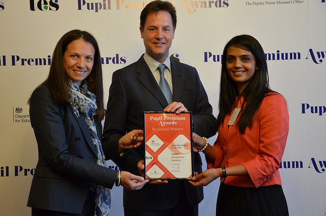 Deputy Prime Minister with the London regional winners of the 2013 Pupil Premium Awards