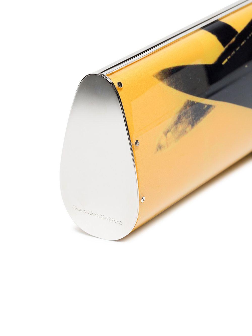 Combien En Ligne Livraison Gratuite Fiable Jaune Et Noir Imprimer L'warhol Andy Embrayage Acrylique De Klein Calvin Vente Nouvelle I1wr968nA