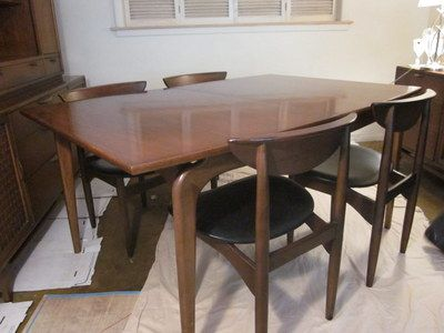 mid century modern dining table oval vintage lane perception set round tables for sale