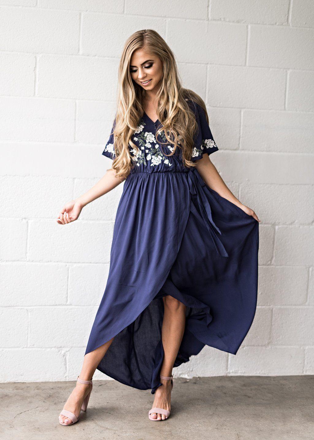 d36f23583484 Navy Rosebuds   Romance Maxi Dress-JessaKae