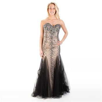 Jovani Juniors Beaded Mesh Mermaid Gown | from Von Maur #VonMaur ...