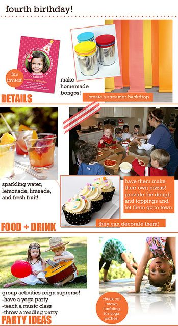 ideas for a four year old birthday party