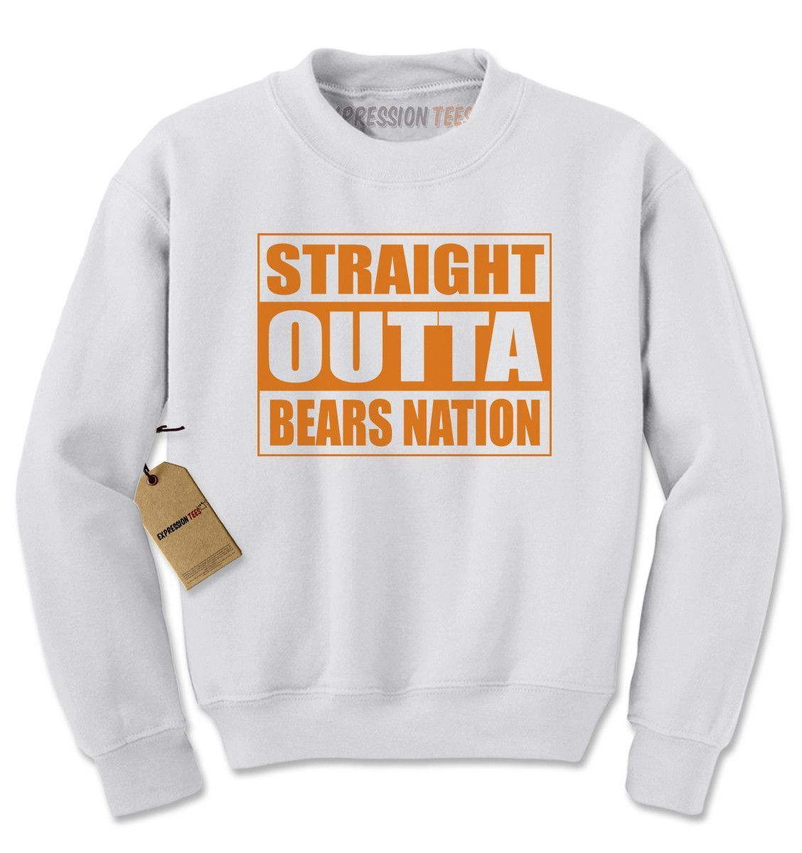 Straight outta bears nation football adult crewneck sweatshirt