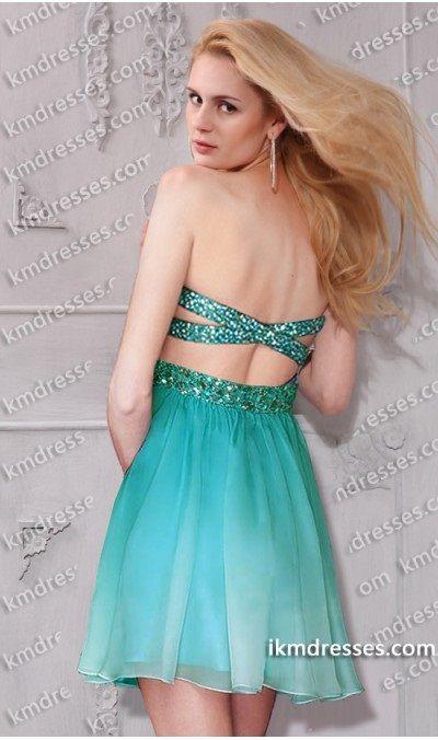 ombre criss cross prom dresses