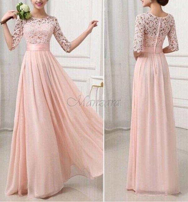 957fe970e0 DLHÉ ŠATY PAULINE ružové - Šaty