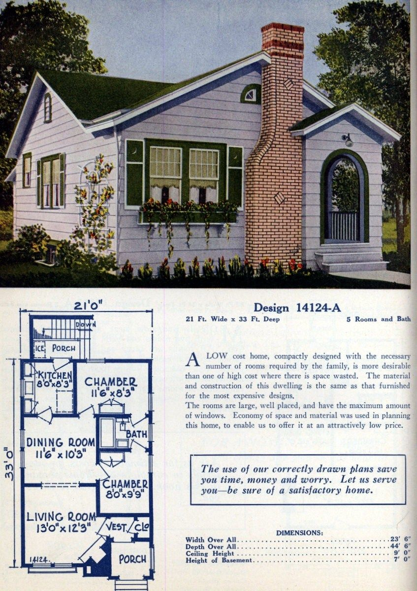 62 Beautiful Vintage Home Designs Floor Plans From The 1920s Home Design Floor Plans Vintage House Plans Small Guest House Design