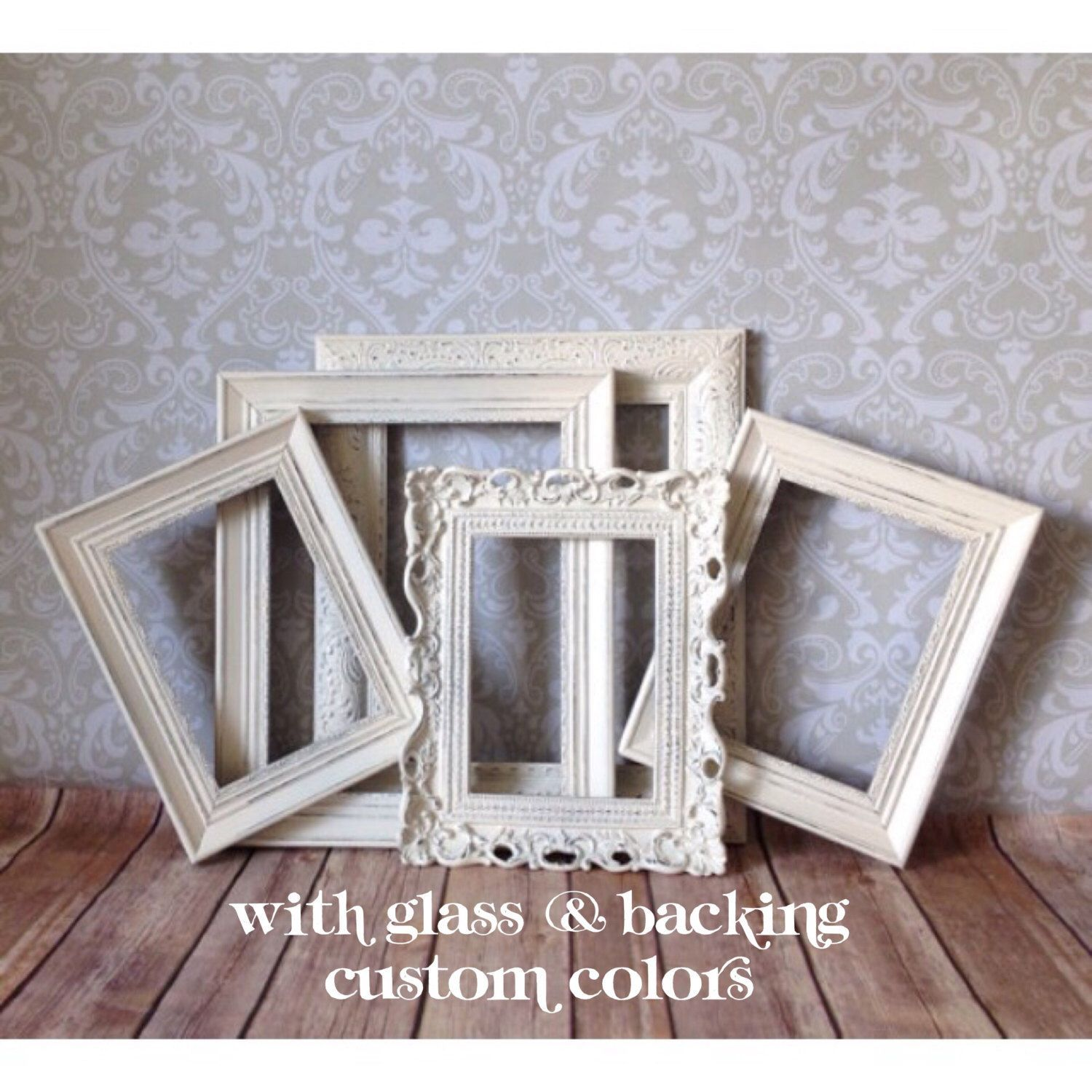 Shabby Chic PICTURE FRAMEs wedding decor Antique White distressed ...