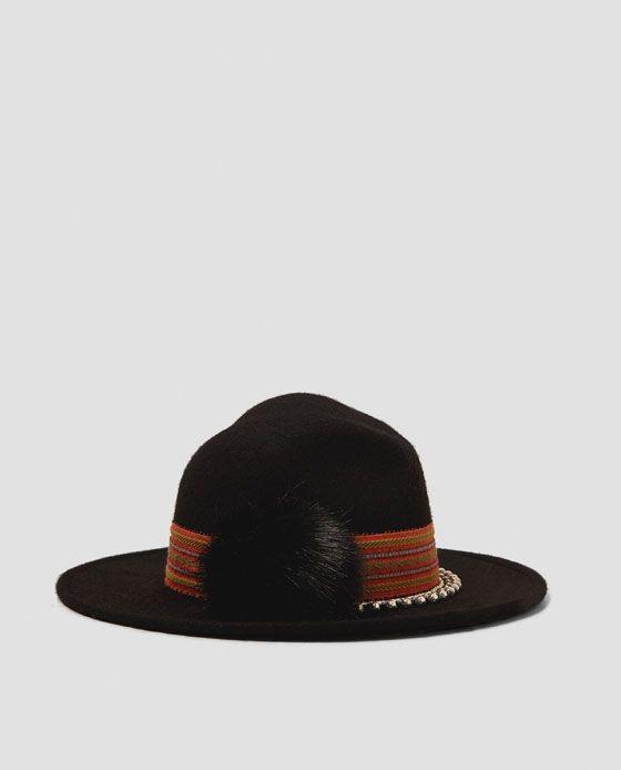 ZARA - WOMAN - EMBELLISHED FELT HAT