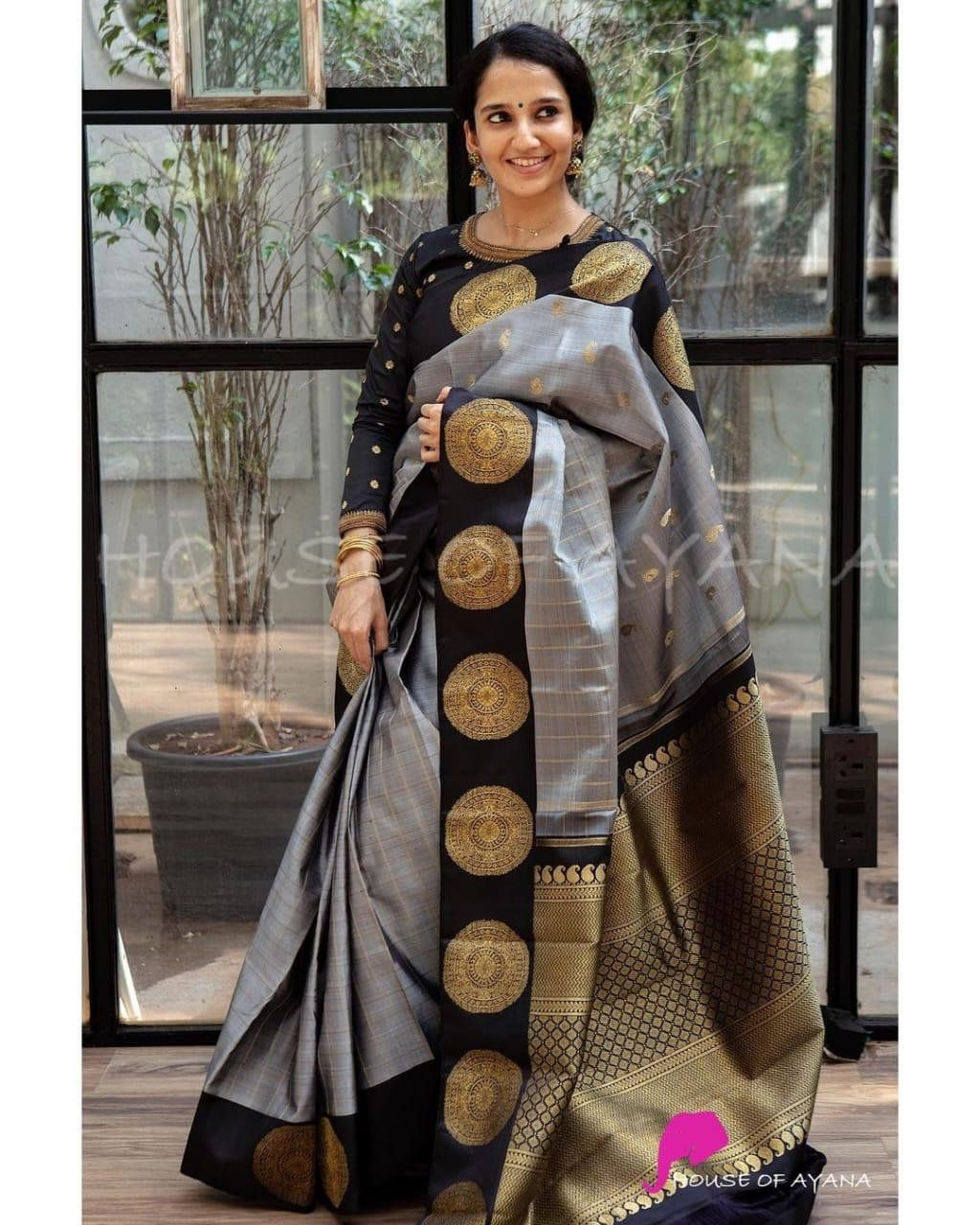 Silk Lichi Fabric Saree With Beautiful Rich Pallu /& Jacquard Work all Over the Saree With Woven Fabric Unstitched Blouse wedding gift saree
