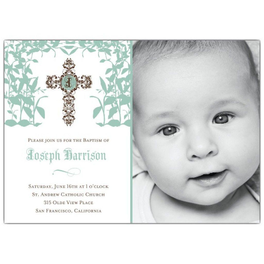 1st birthday baptism invitation wording | baptism invitations ...