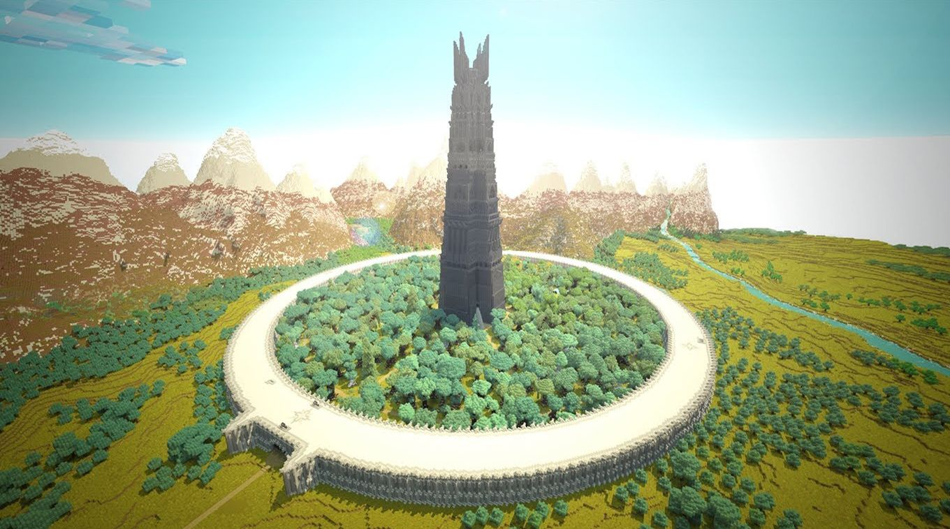 Isengard Jpg 1360 758 Minecraft Lord Of The Rings Barad Dur