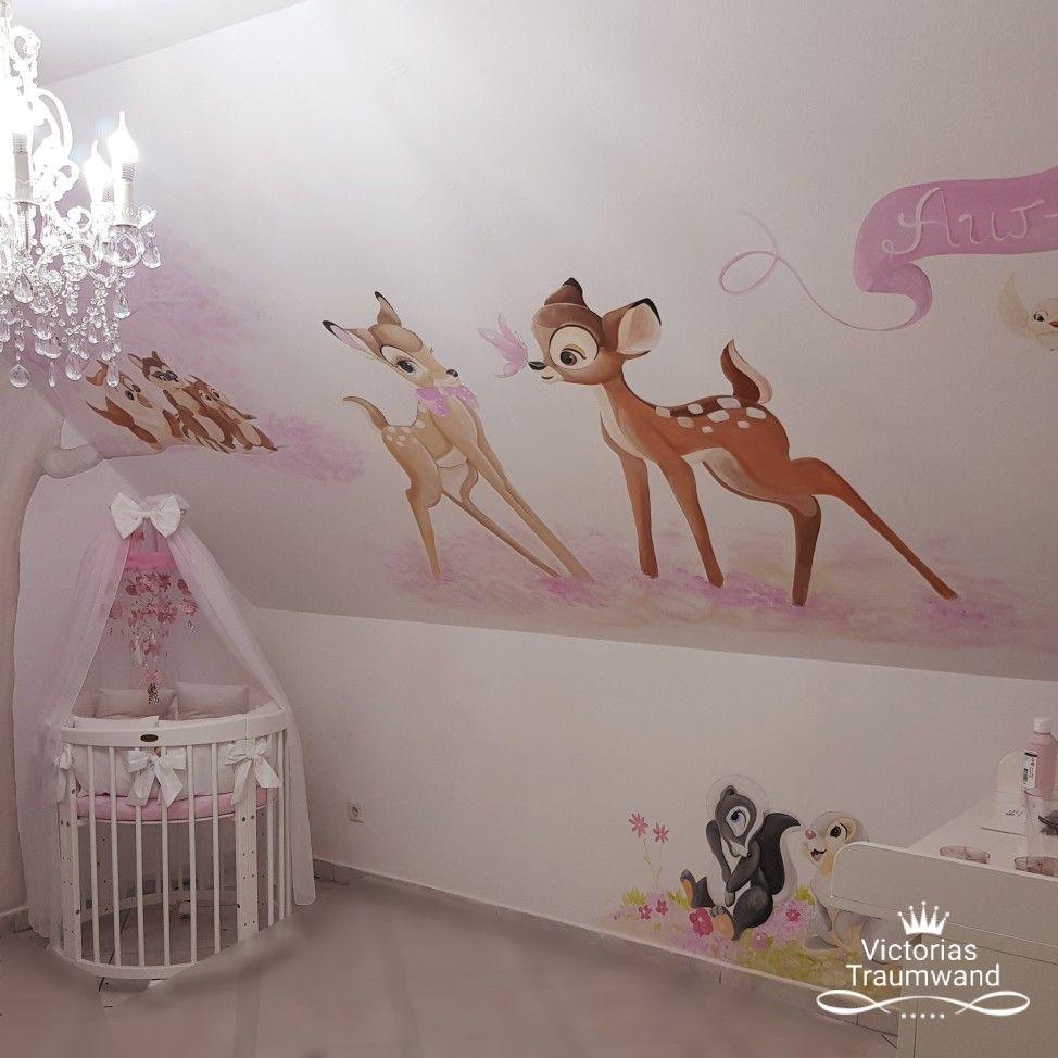 Wunderbar Bambi Wandbild Wandmalerei Im Kinderzimmer #murals #wandmalerei # Kinderzimmer #kinderzimmerideen
