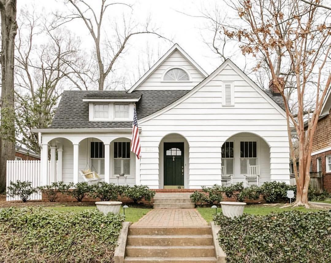 Southern Living On Instagram Charming Adj Extremely Pleasing Or Delightful Slhomes Lizzyc Small Cottage Homes House Exterior Cottage Inspiration