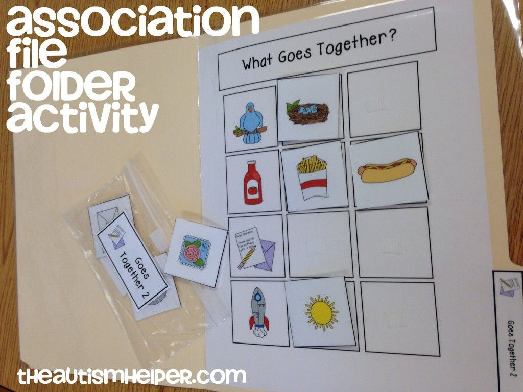 File Folder Activities To Work On Association Amp Function