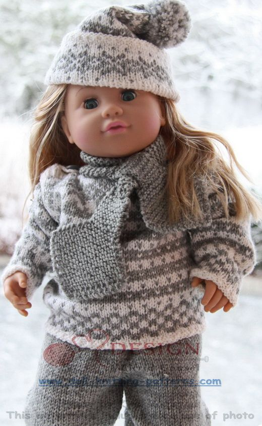 Knit lovley Norwegian heritage baby born doll clothes; Fana sweater ...