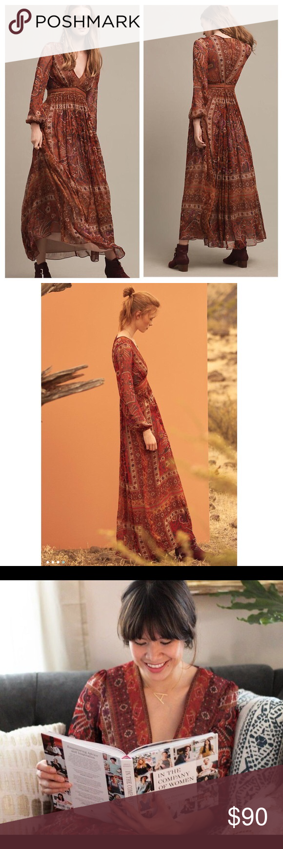 "a951d87a76b Ranna Gill Ceret Maxi Dress by Anthropologie NWOT New without tag. Size 0.  Bought at Anthropologie. Minor ""defects"" that already came with the dress"