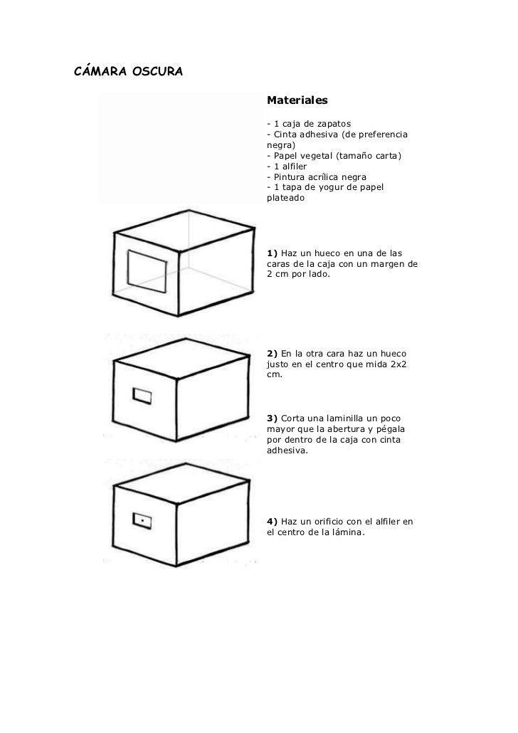 Cómo Hacer Una Cámara Oscura Caja De Zapatos Cámara Oscura Cine Para Niños
