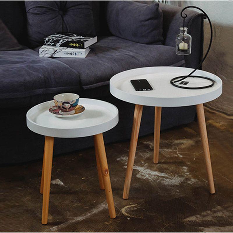 Europäischen Stil Couchtisch Seite Wohnzimmer Elegante Massivholz Möbel Set  Bunte Couchtisch Einfache Mode Runden Tisch
