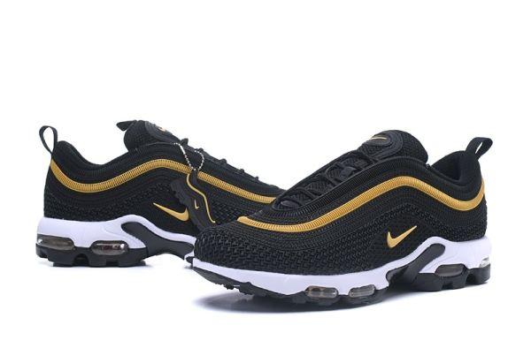 reputable site e03d5 ee0cd Cheap Nike Air Max 97 UL 17 TN KPU Men Black Gold shoes To Worldwide Free  Shipping WhatsApp 8613328373859