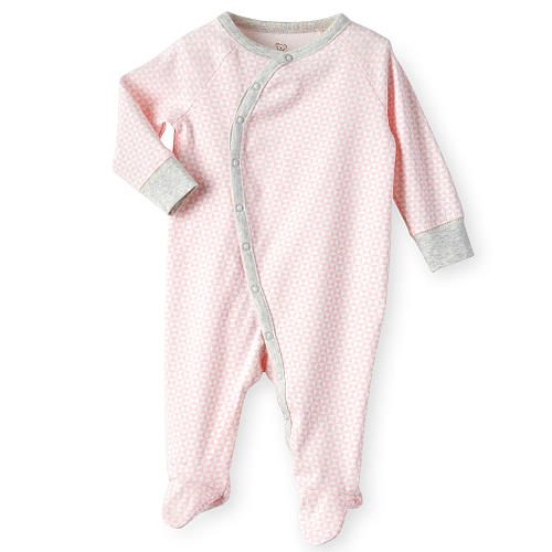Koala Baby Girls Organic Light Pink Grey Geometric Printed