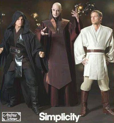 Simplicity 4450 STAR WARS Jedi Sewing Pattern Obi Wan Anakin ...
