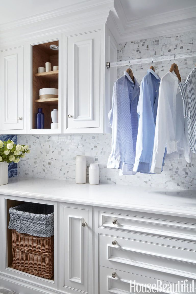 Sinuous Calacatta Gold Laundry Room Makeover Laundry Room Storage Small Laundry Rooms