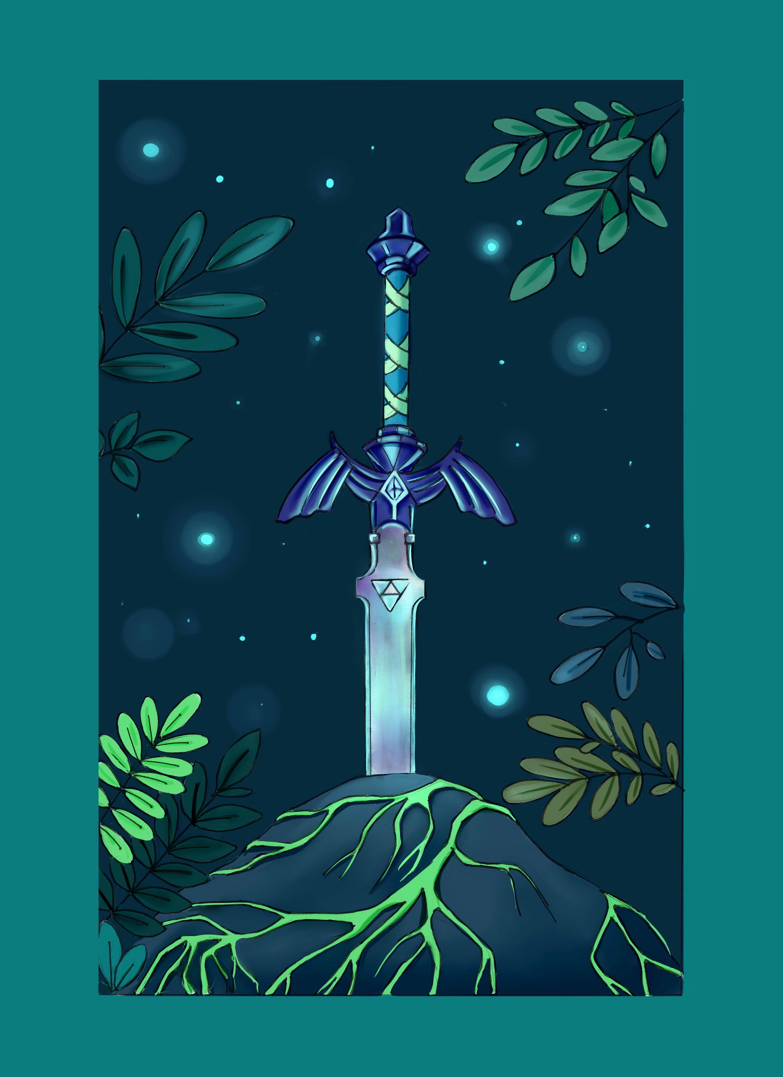 Illustration Mastersword Legend Of Zelda Epee Legendaire De Link