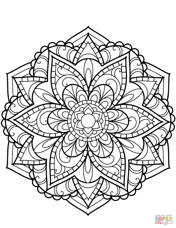 blomster mandala tegninger | mandala tegning, tegninger