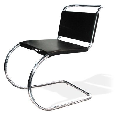 Elegant MR 10 Cantilever Chair (leather)   By Ludwig Mies Van Der Rohe   Knoll  International