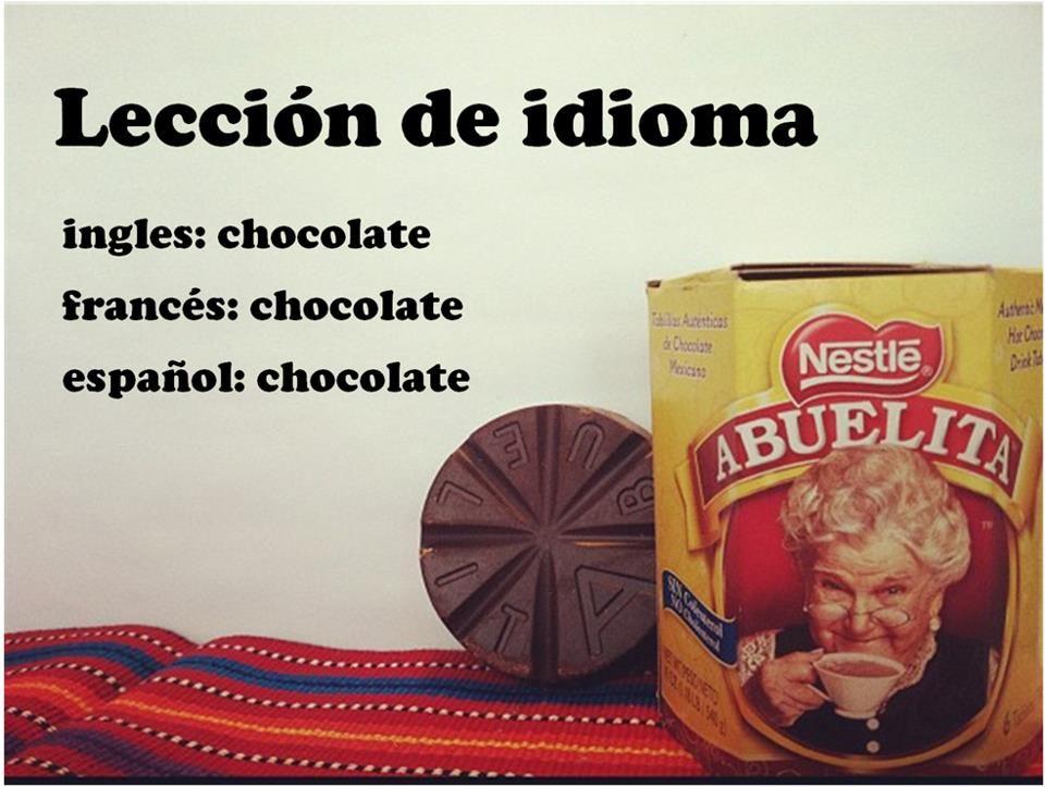 Aparador Dinn Jader Almeida ~  u00bfSabías que la palabra chocolate se escribe igual en francés, inglés y español? Did you know