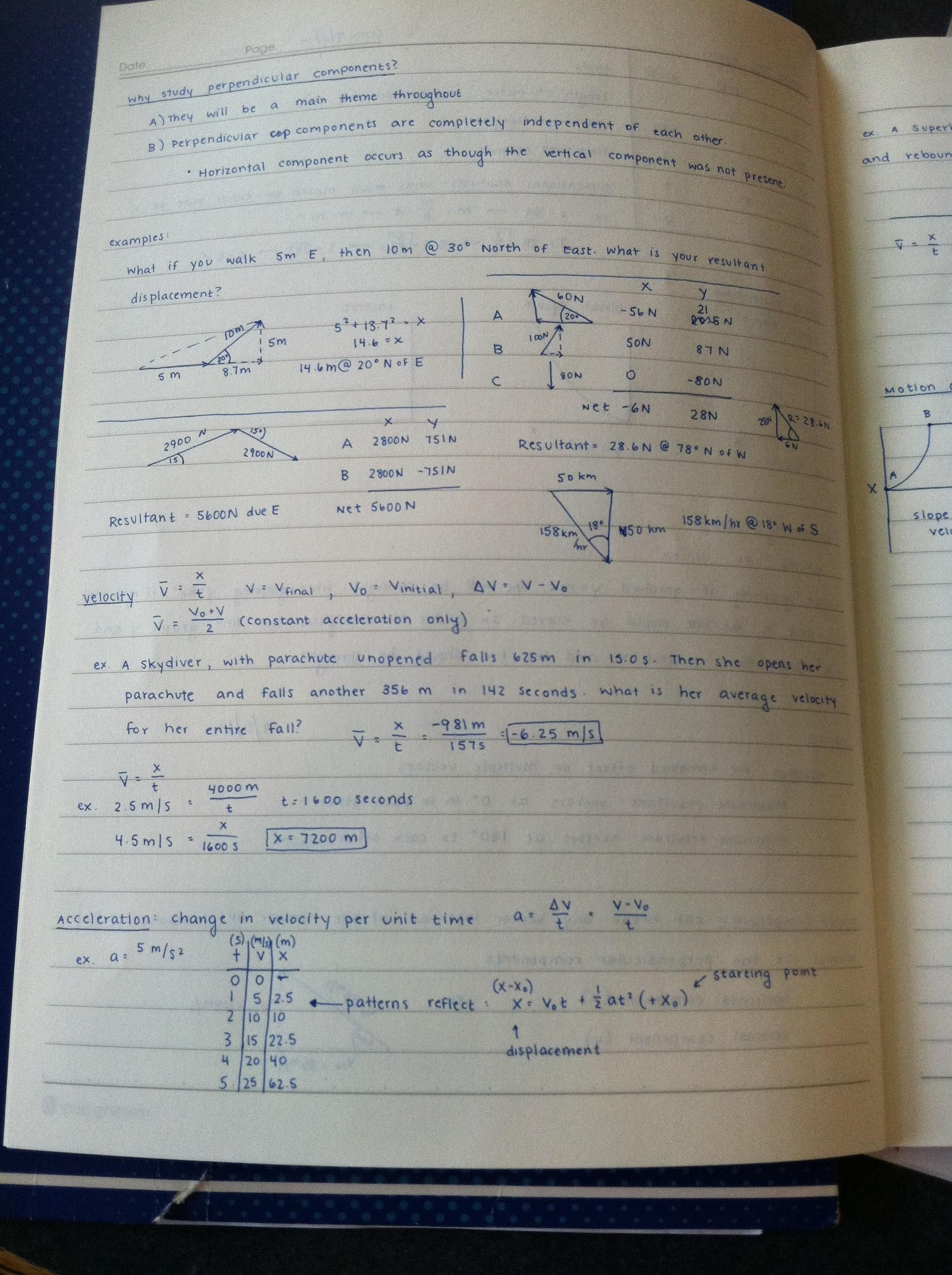 Physics Homework Appropriately Meticulous Handwriting Penmanship