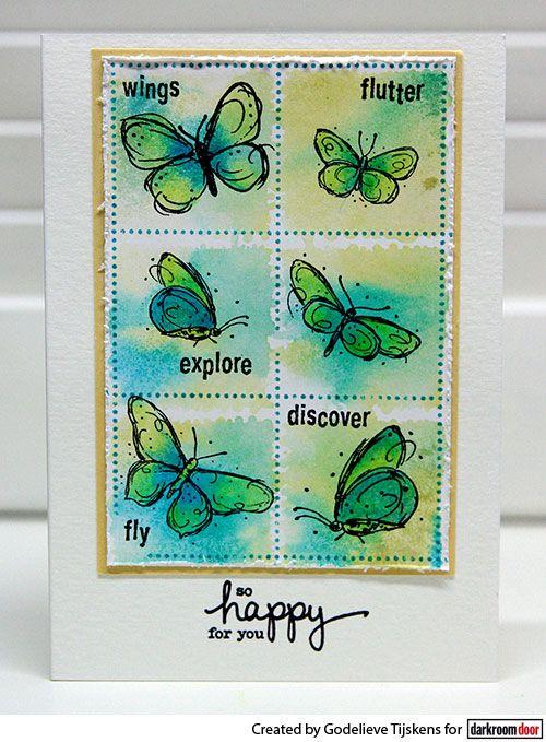 Card by Godelieve Tijskens using Darkroom Door Fine Butterflies ...