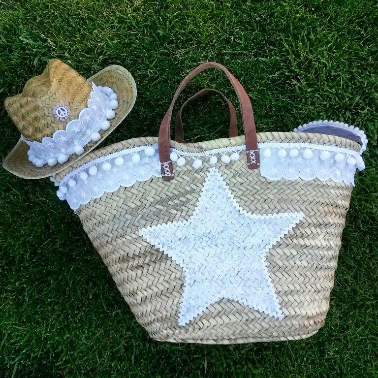 Conjunto capazo y sombrero blonda blanca capazo annacivislimitededition capazos pinterest - Capazo mimbre playa ...