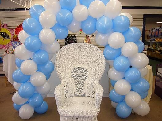 Baby Shower Balloon Decor | Balloon Arch And Main Chair For Baby Shower    Mennens Pinata