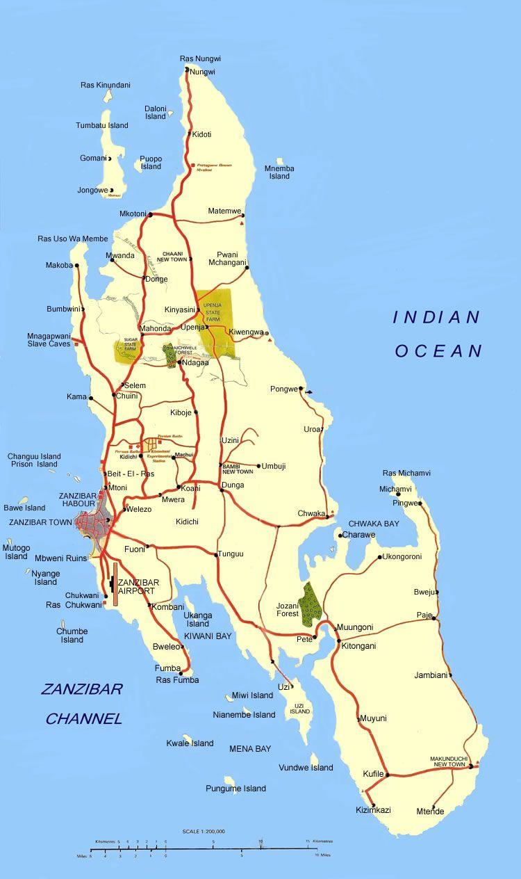 Map Of Africa Zanzibar.Map Of Zanzibar Map Of Zanzibar Zanzibar Island Map Maps
