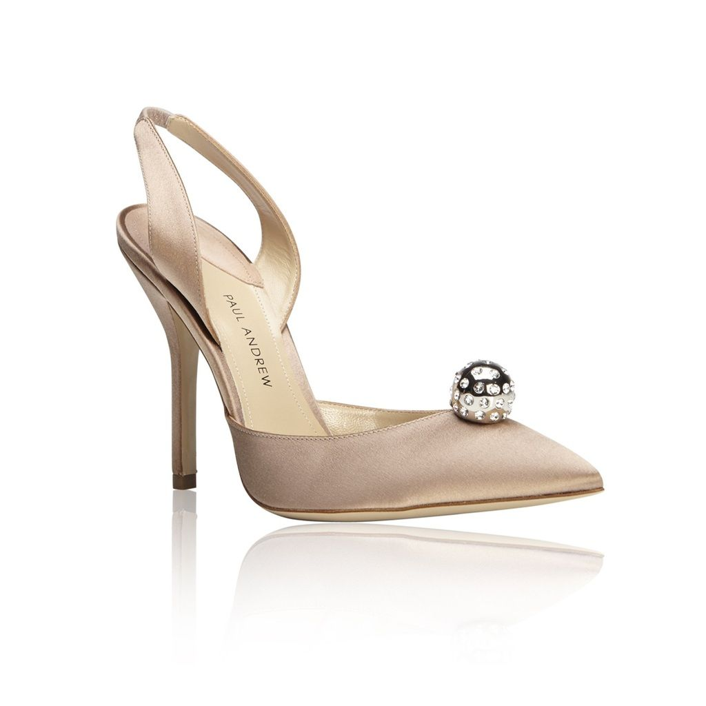 The Blush pink satin 'Passion' pumps from Paul Andrew. Shop the Tech-Luxe Trend at FivestoryNY.com