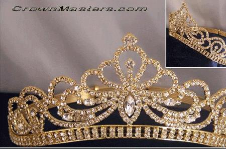 Mirabelle Bridal Rhinestone Tiara #crowntiara