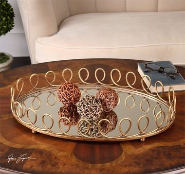 Decorative Mirror Tray Captivating Uttermost Eclipse Mirrored Tray  Mirror Tray Trays And Rustic Design Inspiration