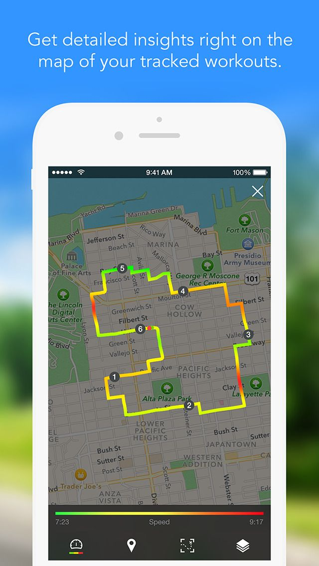 IPhone App Runtastic PRO GPS Running Walking Jogging Fitness - Running map distance tracker