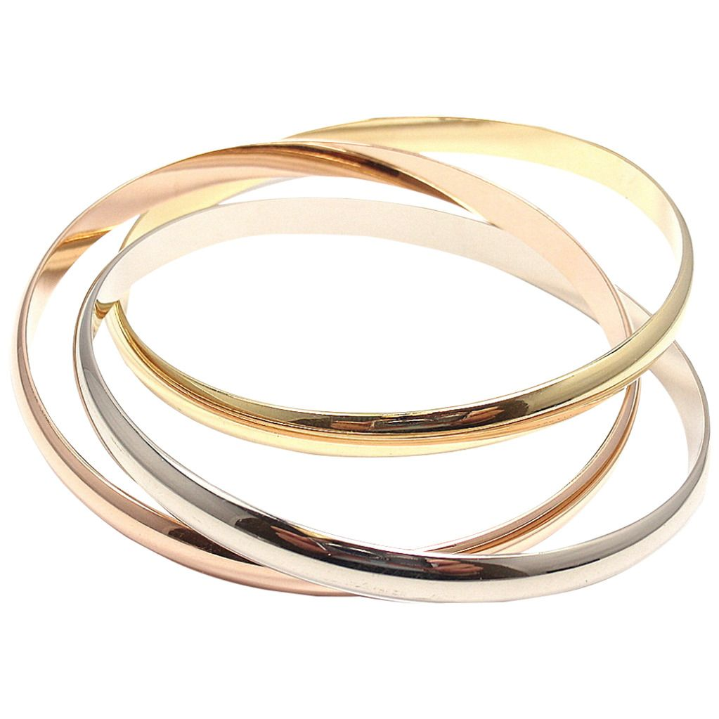 bangles shipping gold free karat product fremada today herringbone inch jewelry watches strand bracelet tricolor braided bracelets bangle overstock