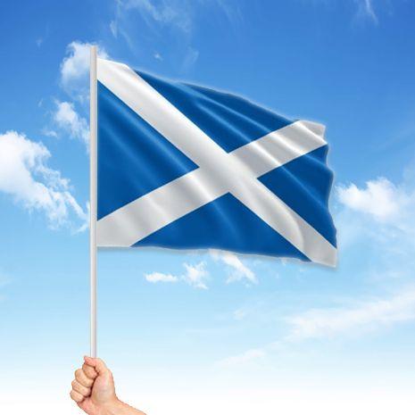 Scotland St Andrew Hand Waving Flag 6 X 4 St Andrews Cross St Andrews Scotland