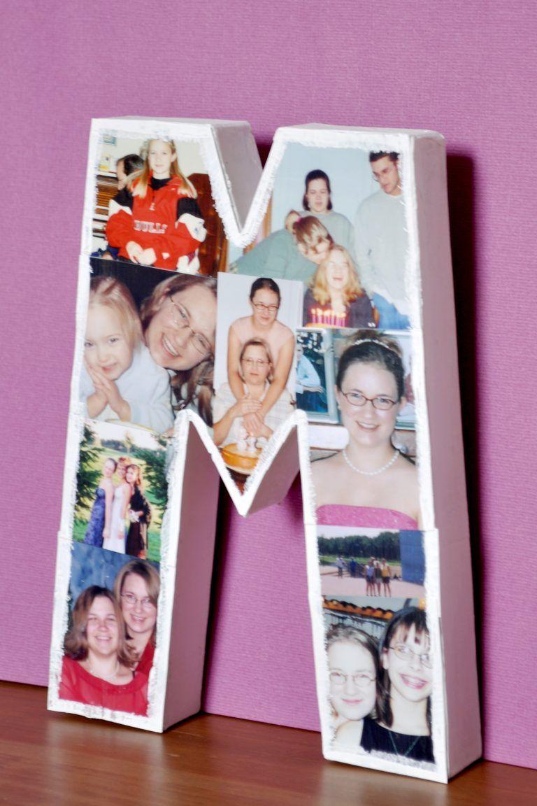 DIY Photo Letter #christmasroomdecorforteens