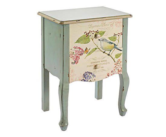Mobili castagnetti ~ Comodino in abete con 2 cassetti bird 49x71x35 cm furniture