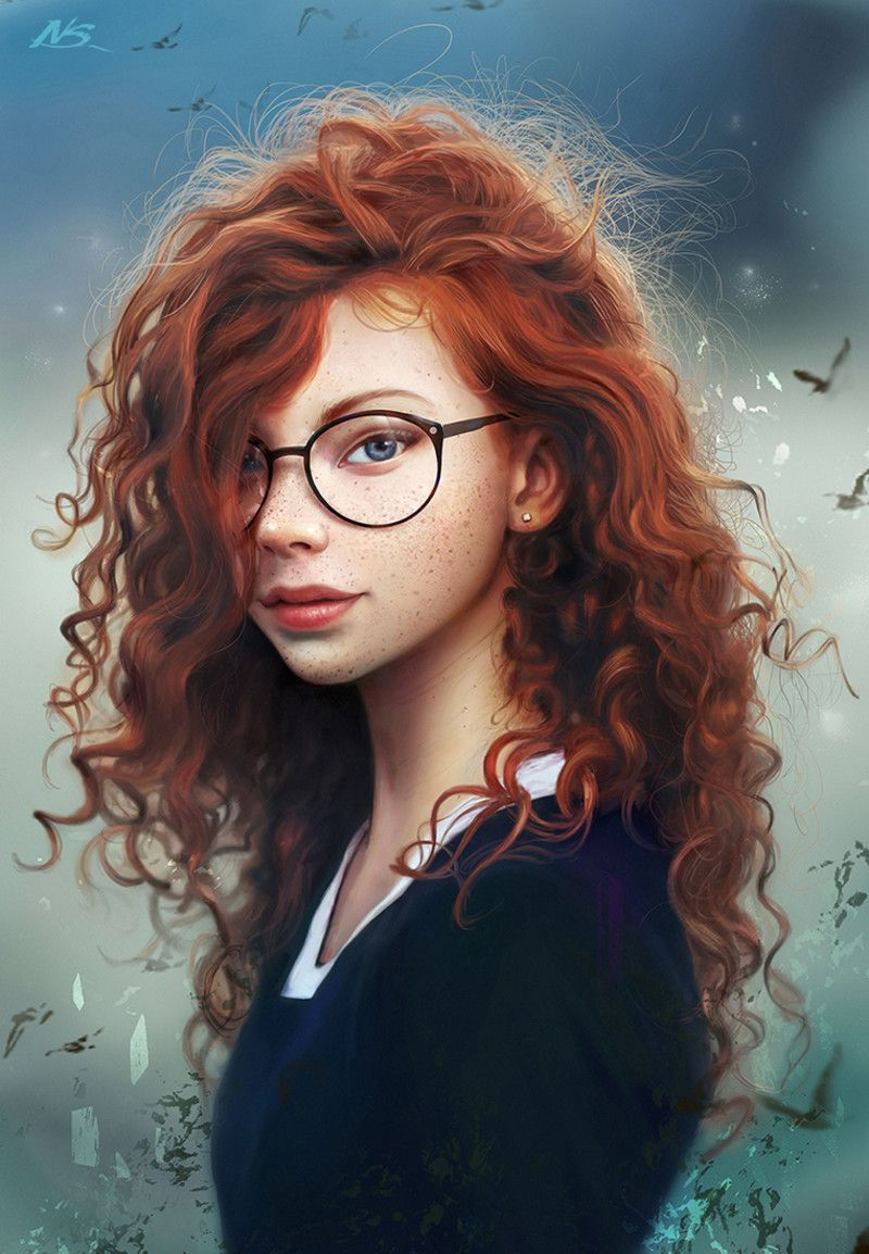 Artstation Red Hair Wizard Noveland Sayson Digital Painting Digital Art Girl Artwork Painting